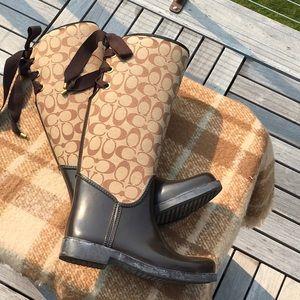 Beautiful Coach Tristee Rain Boots
